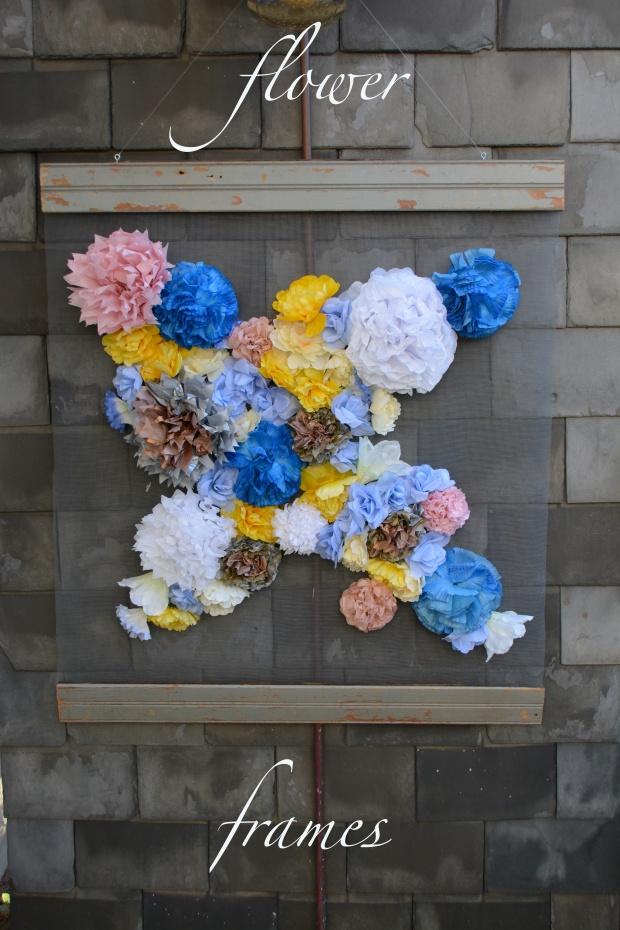 DIY flower frames | the vintage commune